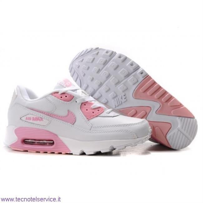 air max bianche rosa